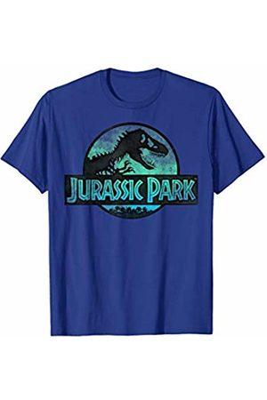Jurassic Park Turquoise Safari Circle Logo T-Shirt