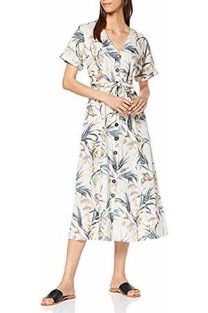 warehouse Women's Bird Linen Midi Dress