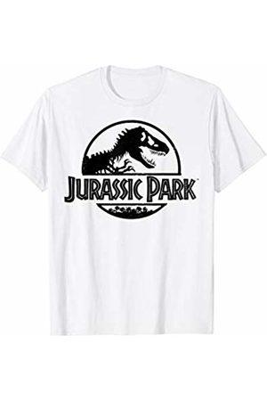 Jurassic Park Basic Black Stencil Logo T-Shirt