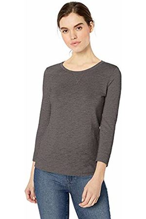 Daily Ritual Lightweight Lived-in Cotton 3/4-sleeve T-Shirt Charcoal Heather