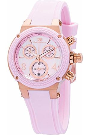 Grafenberg Women's Quartz Watch with Dial Analogue Display and Rose Silicone Bracelet GB206-398