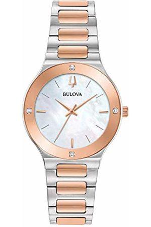 BULOVA Womens Analogue Quartz Watch with Stainless Steel Strap 98R274