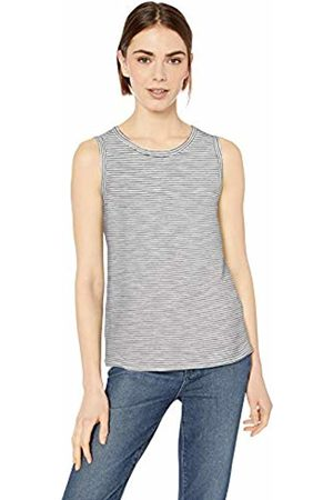 Daily Ritual Lightweight Lived-in Cotton Crewneck Muscle T-Shirt / Micro Stripe