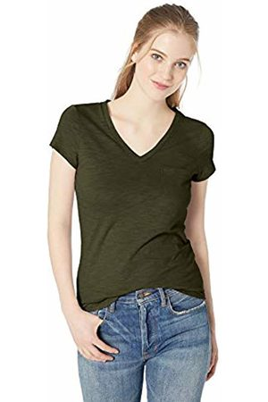Daily Ritual Lightweight Lived-in Cotton Pocket V-Neck T-Shirt Olive