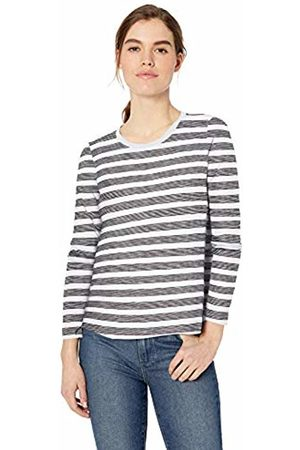 Daily Ritual Lightweight Lived-in Cotton Long-Sleeve Swing T-Shirt Stripe