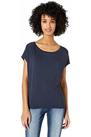 Daily Ritual Jersey Dolman Short-Sleeve Tie-Back Shirt Navy