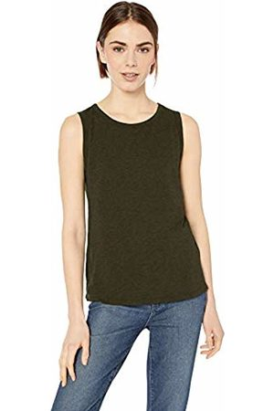 Daily Ritual Lightweight Lived-in Cotton Crewneck Muscle T-Shirt Olive