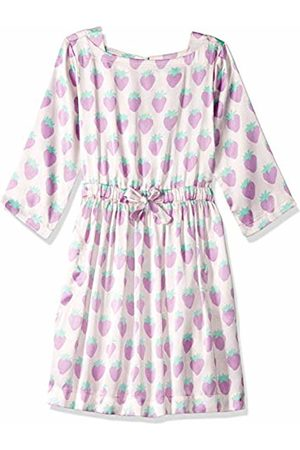 LOOK by crewcuts Girls' Drapey Long Sleeve Dress Strawberry Print