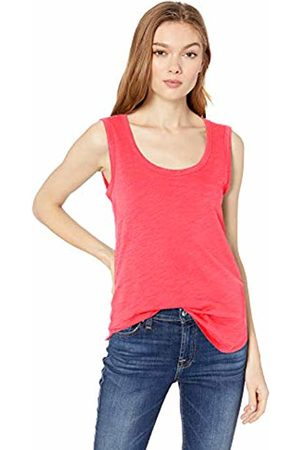 Daily Ritual Lightweight Lived-in Cotton Scoop Neck Muscle T-Shirt Bright Coral