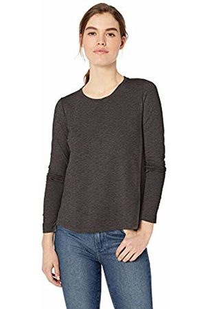 Daily Ritual Women T-shirts - Lightweight Lived-in Cotton Long-Sleeve Swing T-Shirt Charcoal Heather