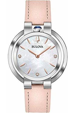 BULOVA Womens Analogue Quartz Watch with Leather Strap 96P197