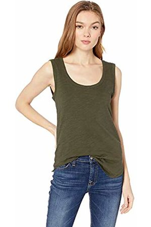 Daily Ritual Lightweight Lived-in Cotton Scoop Neck Muscle T-Shirt Olive
