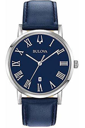 BULOVA Mens Analogue Quartz Watch with Leather Strap 96B295