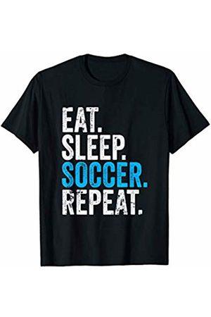 Soccer Player Designs Eat Sleep Soccer Repeat Field Sport T-Shirt