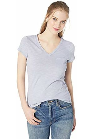 Daily Ritual Lightweight Lived-in Cotton Pocket V-Neck T-Shirt Periwinkle