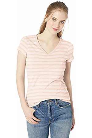 Daily Ritual Lightweight Lived-in Cotton Pocket V-Neck T-Shirt Stripe