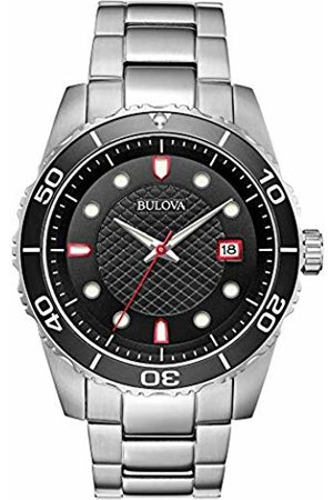 BULOVA Mens Analogue Quartz Watch with Stainless Steel Strap 98A195