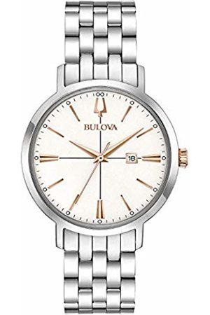 Bulova Womens Analogue Quartz Watch with Stainless Steel Strap 98M130
