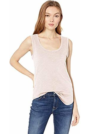 Daily Ritual Lightweight Lived-in Cotton Scoop Neck Muscle T-Shirt Pale