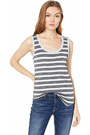 Daily Ritual Lightweight Lived-in Cotton Scoop Neck Muscle T-Shirt Stripe