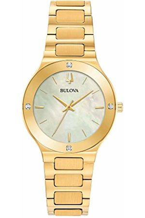 BULOVA Womens Analogue Quartz Watch with Stainless Steel Strap 97R102