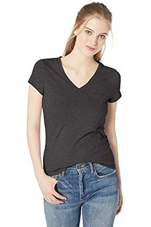Daily Ritual Lightweight Lived-in Cotton Pocket V-Neck T-Shirt Charcoal Heather