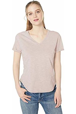 Daily Ritual Lightweight Lived-in Cotton Roll-Sleeve V-Neck T-Shirt Pale