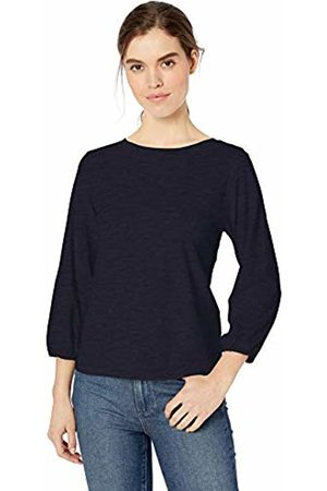 Daily Ritual Lightweight Lived-in Cotton Puff-Sleeve T-Shirt Navy