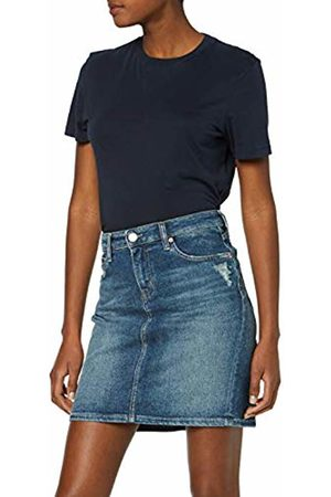 Tommy Hilfiger Women's Regular Denim Skirt Blau (Cali Mid Bl Com 911)