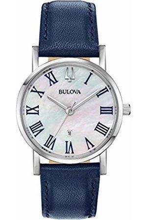 BULOVA Womens Analogue Quartz Watch with Leather Strap 96M146