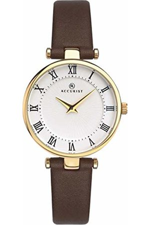 Accurist Womens Analogue Classic Quartz Watch with Leather Strap 8206