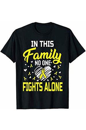 Medotukito Sarcoma Bone Cancer In This Family No One Fights Alone T-Shirt