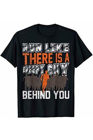 Funny As Shirt - Running Shirts Funny Run Like A Creepy Guy Is Behind You Vintage Runner T-Shirt