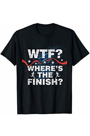 Funny As Shirt - Running Shirts Funny Runner WTF Where's the Finish Line Running T-Shirt