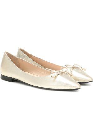 Prada Saffiano leather ballet flats