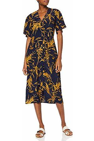 warehouse Women's Summer Rushes Side Button Midi Dress