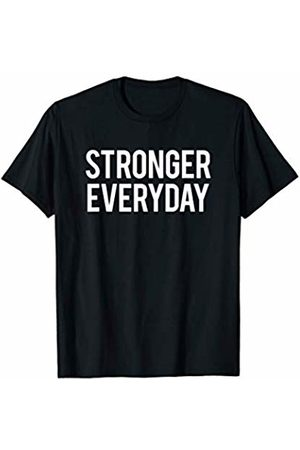GYMCO Workout T-Shirts Stronger Everyday Motivational Gym Workout Saying Gift Idea T-Shirt