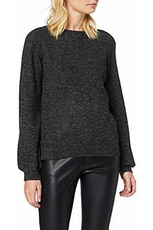 Object NOS Women's Objeve Nonsia Ls Knit Pullover Noos Jumper, Dark Melange