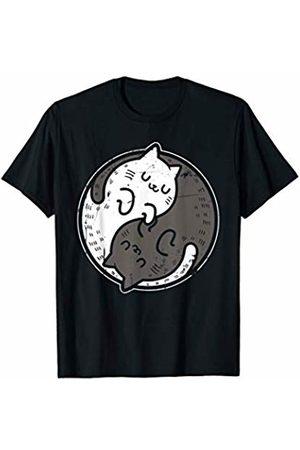 Mindful Wellness Threads Co. Yoga Cat Yin Yang Position Yoga Workout Gift T-Shirt