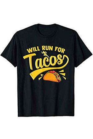 WILL RUN FOR TACOS Funny Running Runner Mexican Taco Shirt T-Shirt