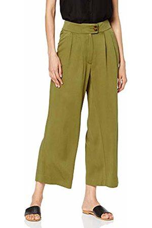 warehouse Women's Crop Pleat Front Trousers