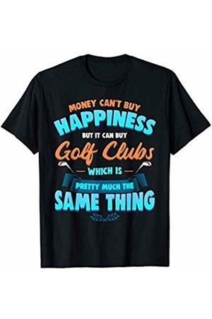 Funny Golf Apparel-Valmar Gear Funny Novelty Golfers Gift Happiness Golf Clubs T-Shirt