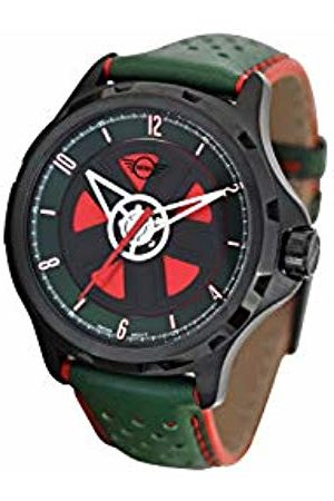 MINI Unisex Adult Analogue Classic Quartz Watch with Leather Strap 161105