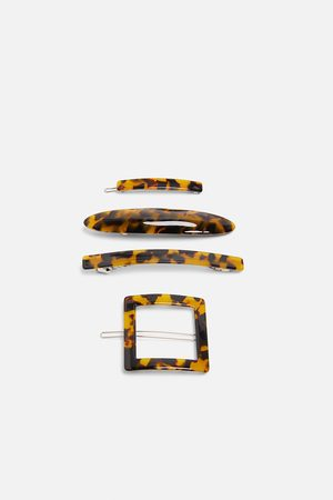 Zara Pack of acetate hair clips