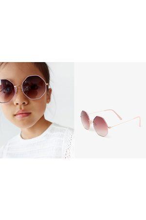 Zara Hexagonal metal sunglasses