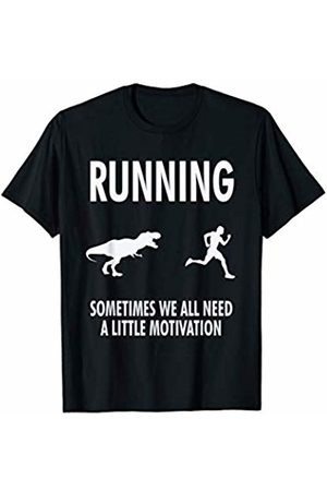 Dinosaur Humor Teez Funny Running Motivation Dinosaur Chase T-Shirt