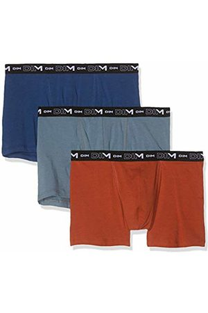 Dim Men's Coton Stretch Boxer X3 Shorts, Multicolore (Gris Souris/Terre/Bleu Eclipse 8nb)