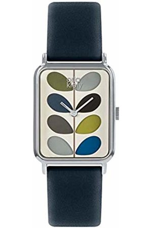 Orla Kiely Unisex Adult Analogue Classic Quartz Watch with Leather Strap OK2241