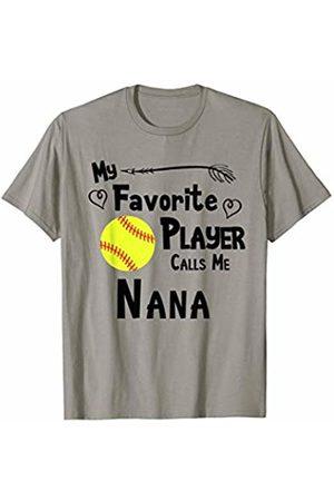Baseball Softball Sports Fan Designs Co. Softball My Favorite Player Calls Me Nana Sports Fan T-Shirt