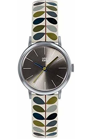 Orla Kiely Unisex Adult Analogue Classic Quartz Watch with Leather Strap OK2245
